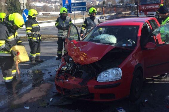 Verkehrsunfall B113 am 11.2.2017