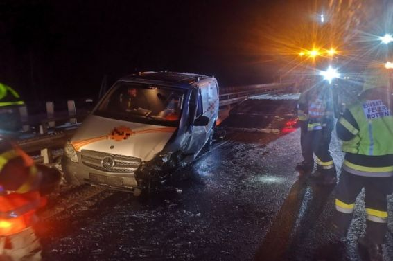 Verkehrsunfall auf der A9 am 18.01.2021