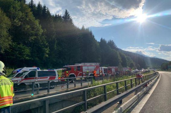2 Unfälle auf der A9 am 06.08.2020